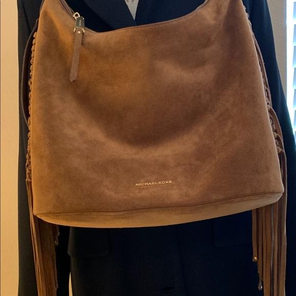 Michael Kors Handbags - Michael Kors Suede Hobo Bag